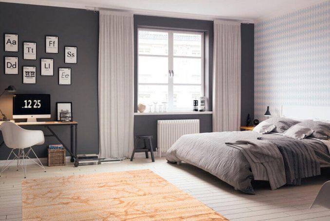 Мебель в спальне в скандинавском стиле