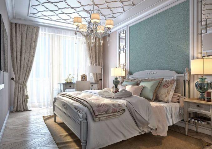 Неоклассицизм в интерьере в спальни