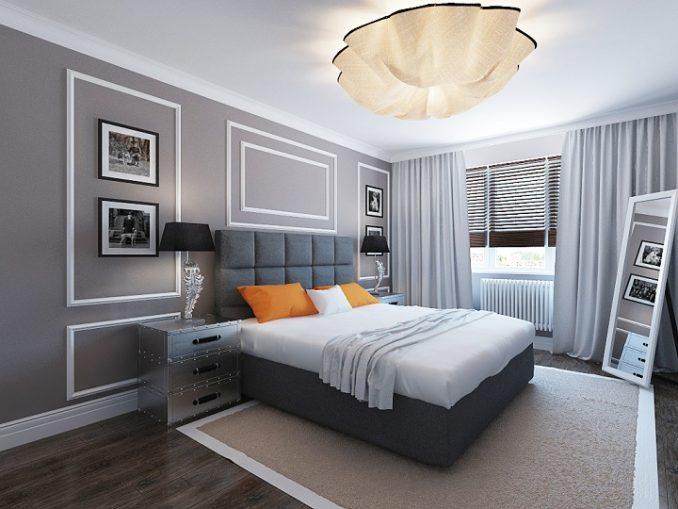 Нестандартный дизайн спальни