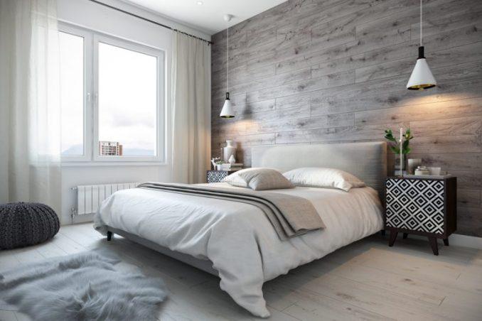 Оформление интерьера в скандинавском стиле спальни