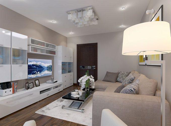 Оригинальные идеи дизайна гостиной 17 кв.м.