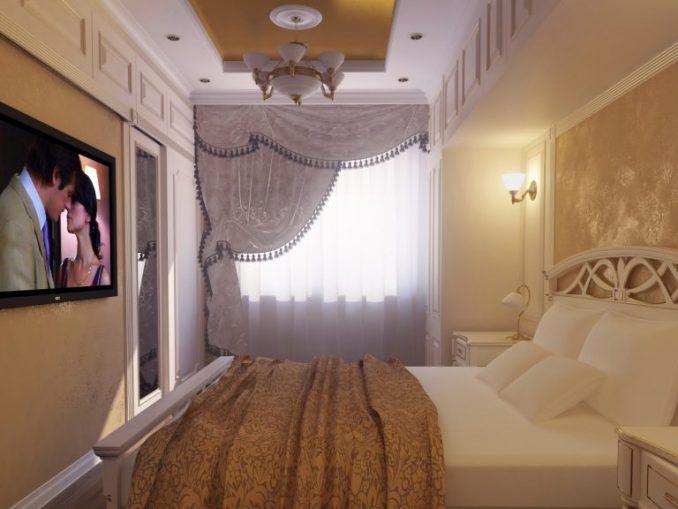 Расширение пространства малогабаритной спальни