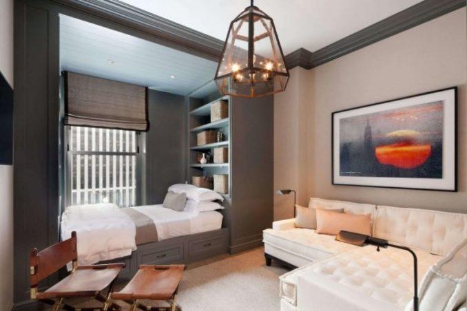 Совмещенная спальня и гостиная
