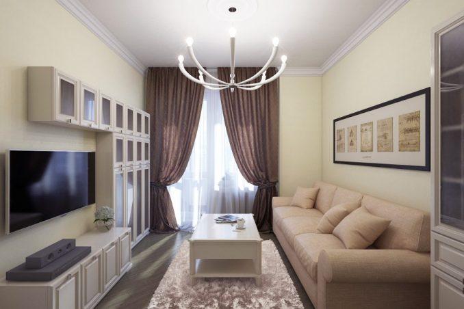 Современные идеи дизайна интерьера маленькой гостиной
