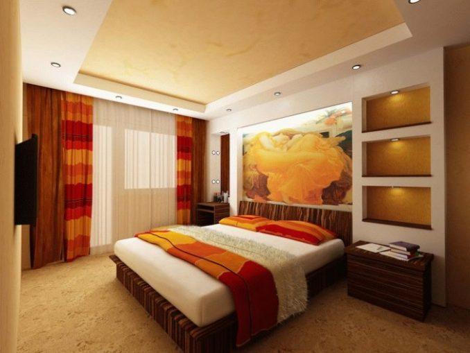 Спальня 9 кв. м. в современном стиле