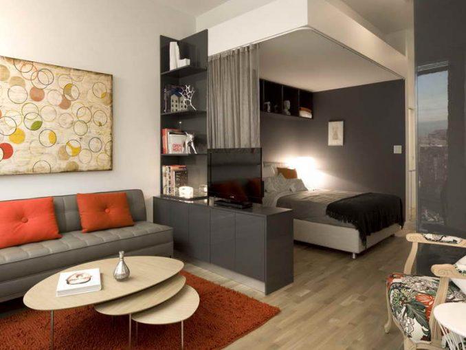 Спальня-гостиная фото