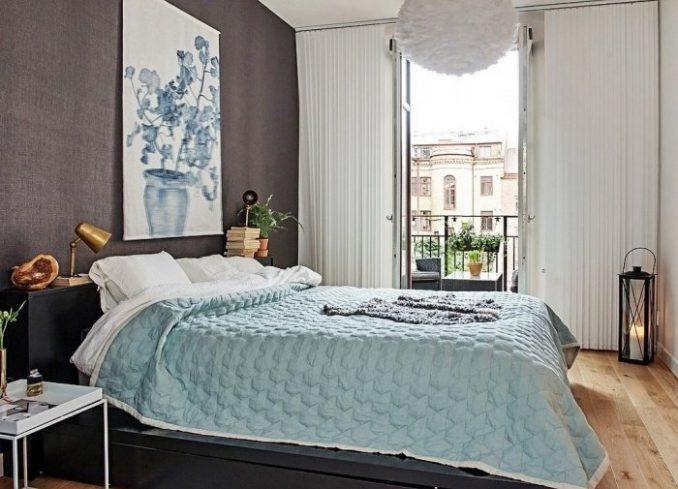 Спальня - скандинавский стиль