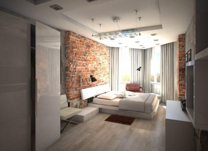 Спальня в стиле лофт дизайн 2019 года