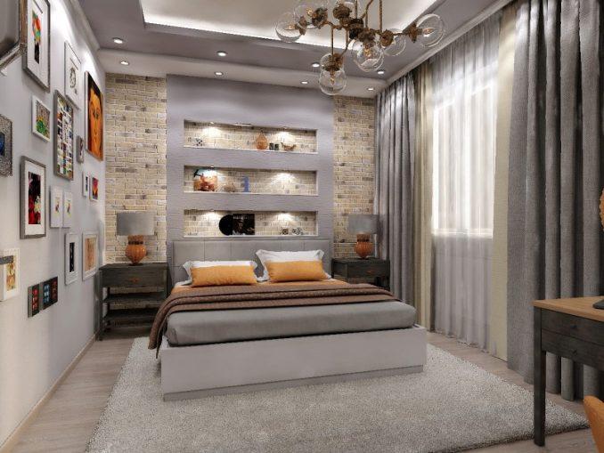 Спальня в стиле лофт- примеры дизайна