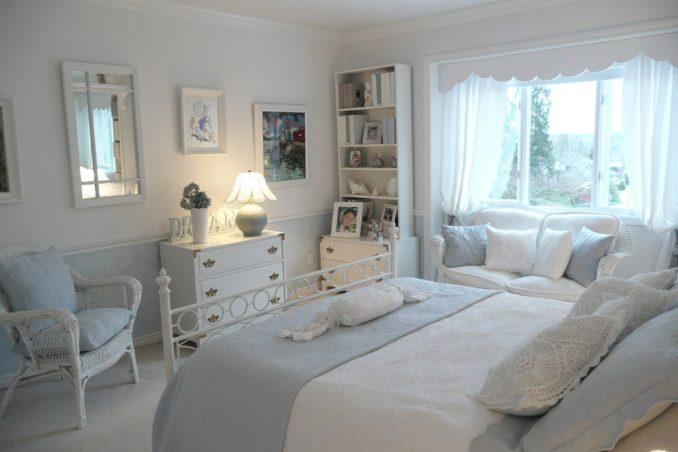 Спальня в стиле прованс в белом цвете