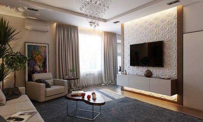 Стена с телевизором