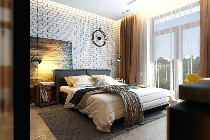 СтильЛофт в спальне в квартире