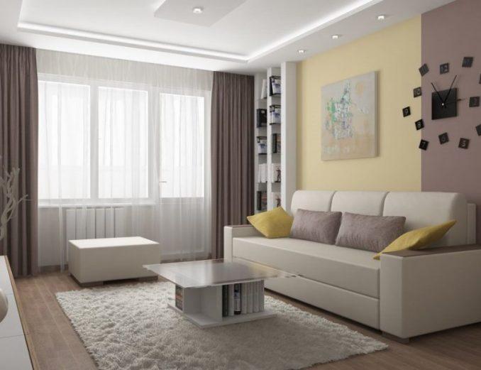 Свет и цвет в решении маленькой гостиной
