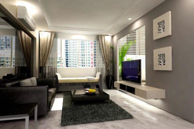 Свет и цвет в решении маленькой гостиной фото