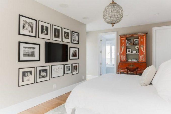 Телевизор на стене в интерьере + фото