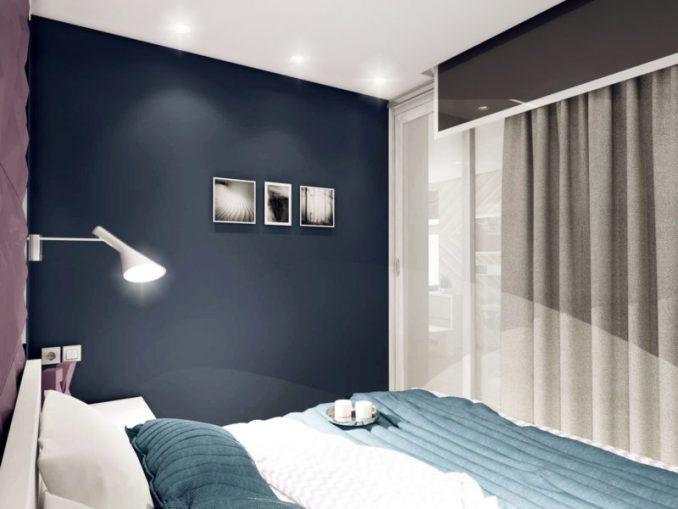Темная спальня в современном стиле