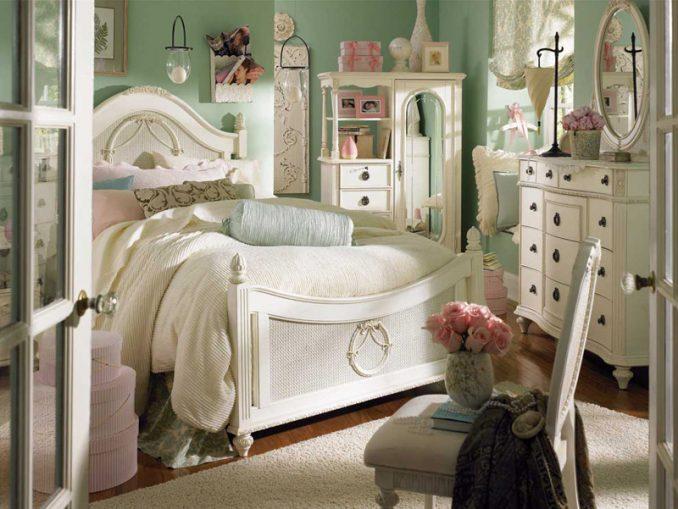 Винтажный шебби-шик в спальне