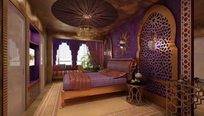 Восточный дизайн спальни