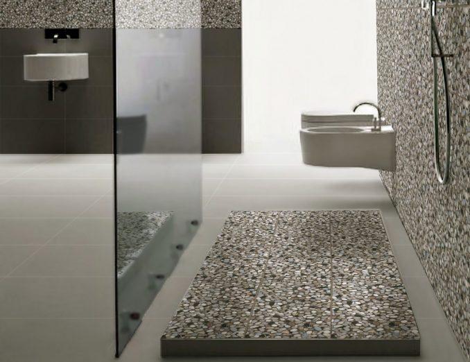 галечная плитка для ванной