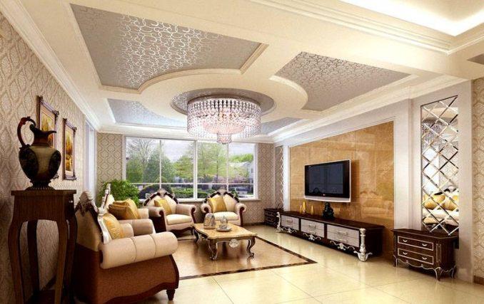 Красивые потолки из гипсокартона фото для гостиной