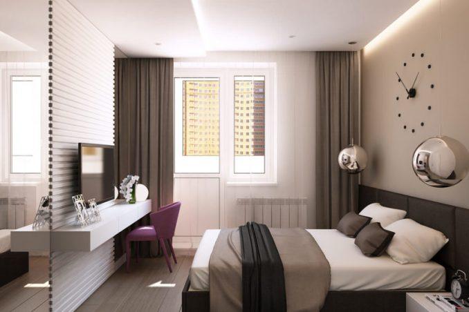 Спальни 9 кв. м. в современном стиле фотографии